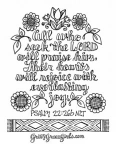 Bible Verse Coloring Pages — scripture printables from Grit \'n\' Grace